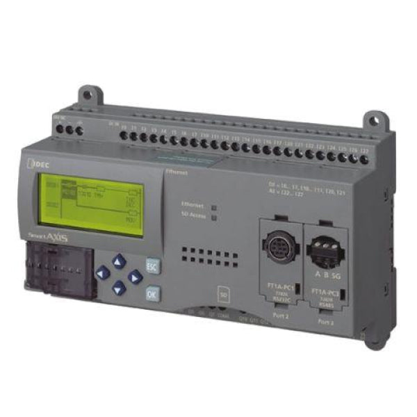 Idec PLC FT1A SmartAXIS 40I/O CPU DC, 24 DC In 12 Out, keypad