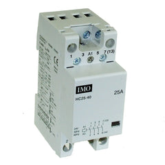 Modular Heating/Lighting Contactor 25A 4 Pole Normally Closed 230VAC