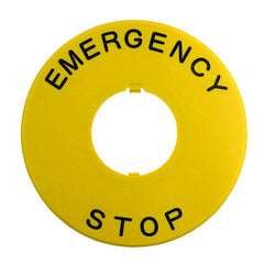 Emergency Stop Legend Plate for 22mm HW & XW Series E-Stop - Idec
