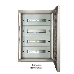 96 Pole Distribution Board Kit to suit 800H x 600W Electrical Enclosure