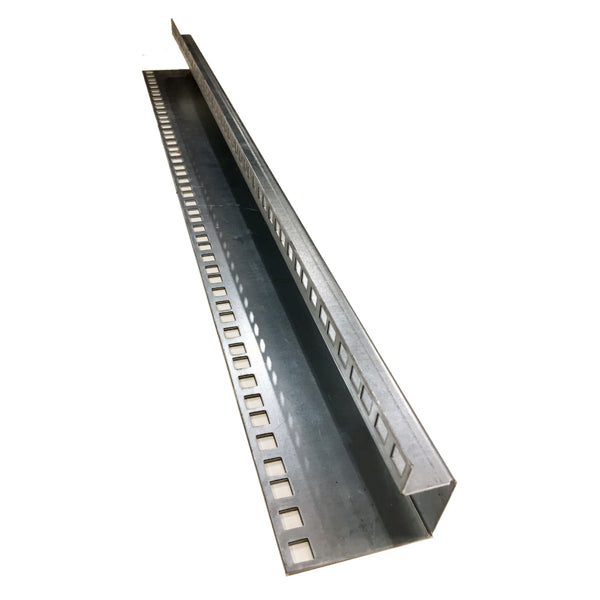 "Stainless Steel 19"" Data Rack Rail Set to suit 16RU 800mm H"