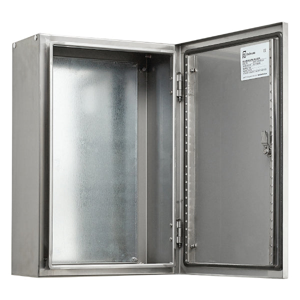 Stainless Steel Electrical Enclosure 500 H x 400 W  x 250 D IP66
