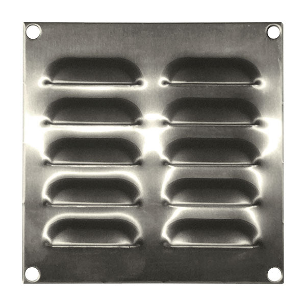 Stainless Steel Louvre Vent 130 x 130
