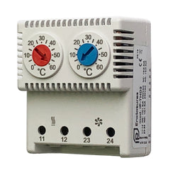 Double Thermostat Normally Open/Normall Closed 0/+60 0/+60°C