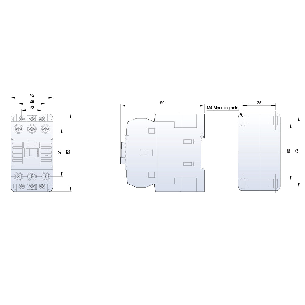 Ls Contactor Metasol 3 Pole 240vac Coil 40aac3 60aac1 185kw Wiring Diagram