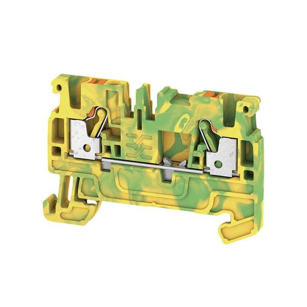 Weidmuller DIN Terminal A-Series Push-in 2.5mm Green-Yellow