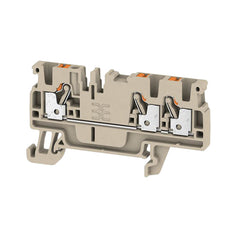 A3C 2.5 Feed-through terminal, PUSH IN, 2.5 mm² Dark Beige - Weidmuller