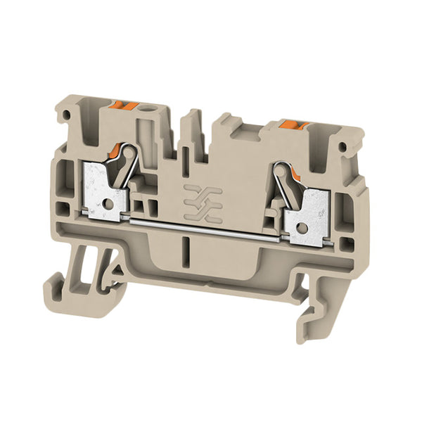 Weidmuller DIN Terminal A-Series Push-in 2.5mm Beige