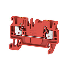2.5mm Feed-through terminal, PUSH IN, 2.5 mm² Red - Weidmuller