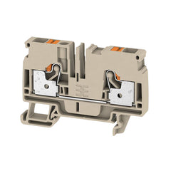 DIN Terminal A-Series Push-in 6mm Beige - A2C 6