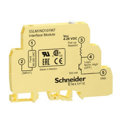 DIN Mount Solid State Relay Input 90-280VADC Output 4-28VDC 0.1A Negative Logic Yellow