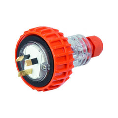 10 Amp 3 Flat Pin IP66 Straight Plug 250V