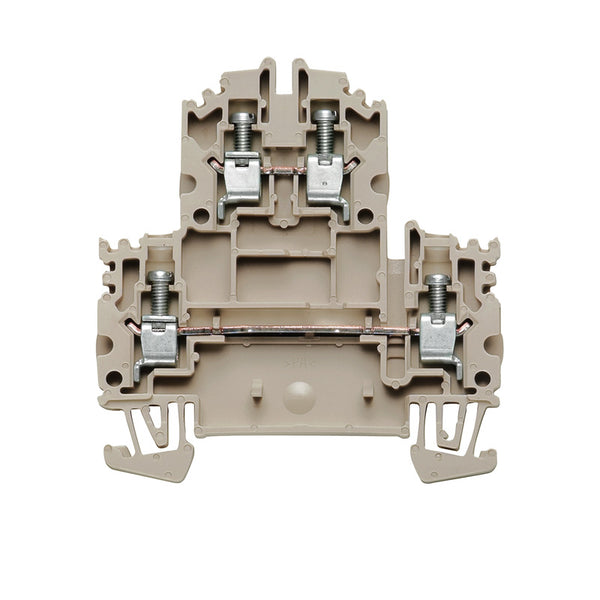 Weidmuller Feed Through DIN Terminal Block Double Tier 4mm Beige