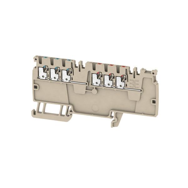 Weidmuller Modular Distribution Terminal Push In 1.5mm 250V 16A Dark Beige