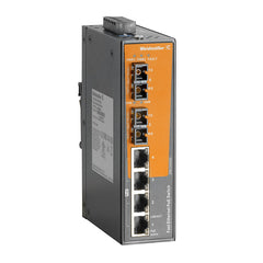 IE-SW-EL6-4PoE-2SC - 6 Port (4x RJ45 10/100 BaseT(X) PoE+, 2x SC Multi-mode) Unmanaged POE Switch, Fast Ethernet (10/100Mbs)