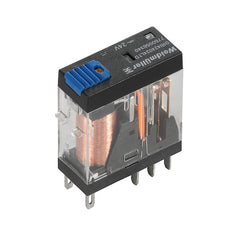 DRI Relay 24VDC 2CO 5A w/ LED, Diode & Test Button