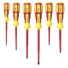 Weidmuller Redline - VDE-Insulated 6-Piece Screwdriver Set, Inc. 4 x Slot-head 3.0 - 6.5mm and 2 x Crosshead 80-100mm