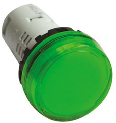 22MM YW Series Pilot Light (Unibody) Full Voltage Flush LED Green - Idec