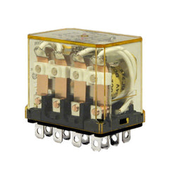 Idec Compact Power Relay with Indicator Light 4PDT 24V DC 10 Amp