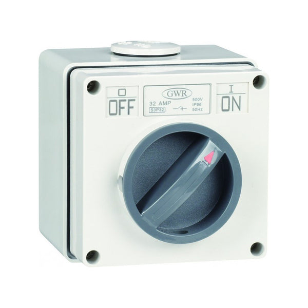 3 Pole Switch 3 Pole 32 Amp IP66