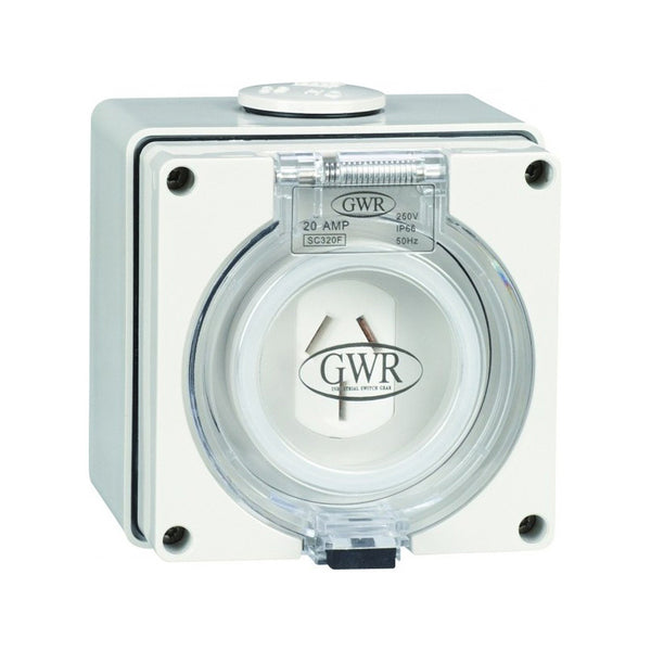 10 Amp 3 Pin IP66 Fixed Socket 250V