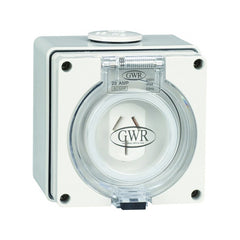 20 Amp 3 Flat Pin IP66 Fixed Socket 250V