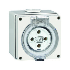 10 Amp 4 Round Pin IP66 Fixed Socket 500V