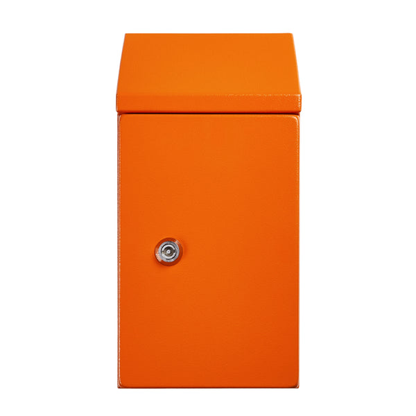 Sloping Roof Electrical Enclosure 500H x 500W x 250D IP66 Orange