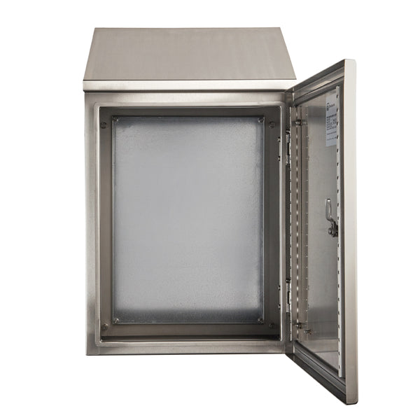 Stainless Steel Electrical Enclosure with Sloping Roof 500 H x 400 W x 250 D IP66