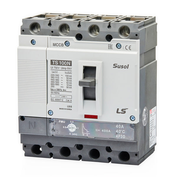 LS MCCB Moulded Case Circuit Breaker Susol 50kA 4 Pole 50 - 63 Amp