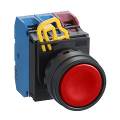 Red Push Button 22mm Flush Momentary 1xNO - Idec
