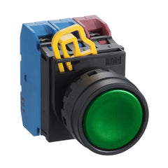 Green Non-Illuminated Push Button 22mm Flush Momentary 1xNO - Idec