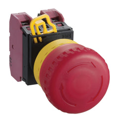 Emergency Stop Button, 40mm Red Non-illuminated 1xNC Push Lock Turn Reset - Idec