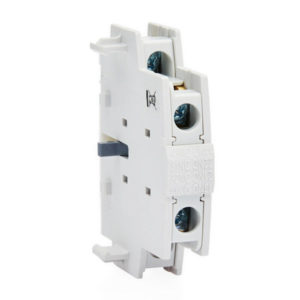 LS Auxilary Contact MetaMEC, Side Mounted 2 Pole 1 x N/O, 1 x N/C