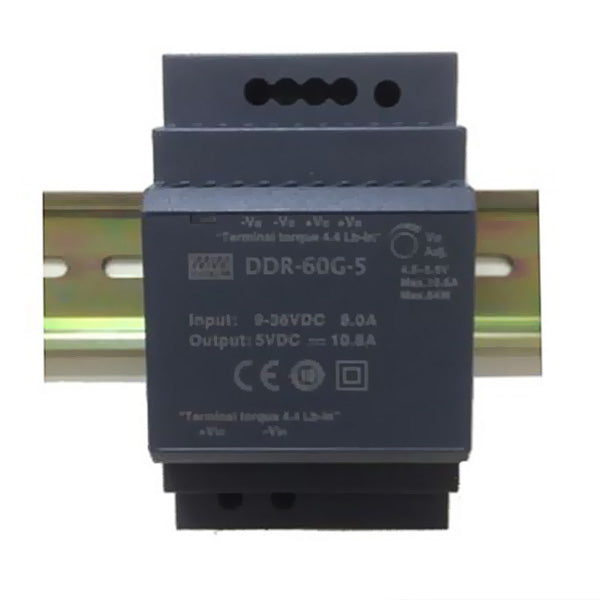 Meanwell DC/DC Converter 9-36VDC Input 15VDC Output 60W 4A Din Mount