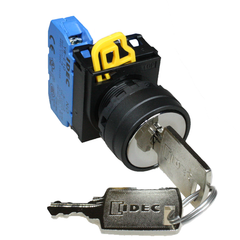 Idec Key Selector Switch Spring Return 2 Position