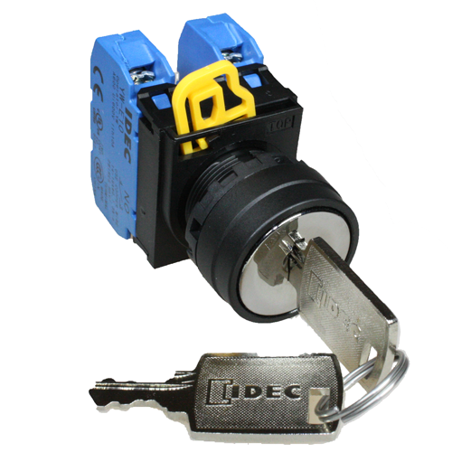 2 Position Key Selector Switch 1NO+1NC - Idec