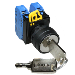 3 Position Key Selector Switch 2NO spring return from right - Idec