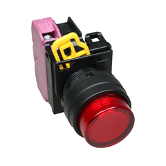 Idec Illuminated Push Button Momentary Red