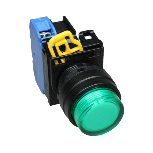 Idec Illuminated Push Button Momentary Green
