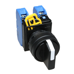 Selector Switch 3 Pos 2NO spring return from right