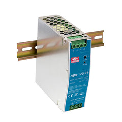 24V 120W 5A Din Mount Power Supply NDR Series - Economical Range
