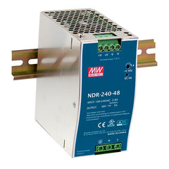 24V 240W 10A Din Mount Power Supply NDR Series - Economical Range