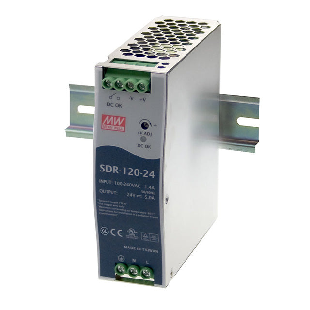 Meanwell Power Supply 48V 120W 2 5A Din Mount SDR Series