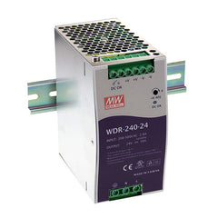 24V 240W 10A Din Mount Power Supply WDR Series - Wide Input Range