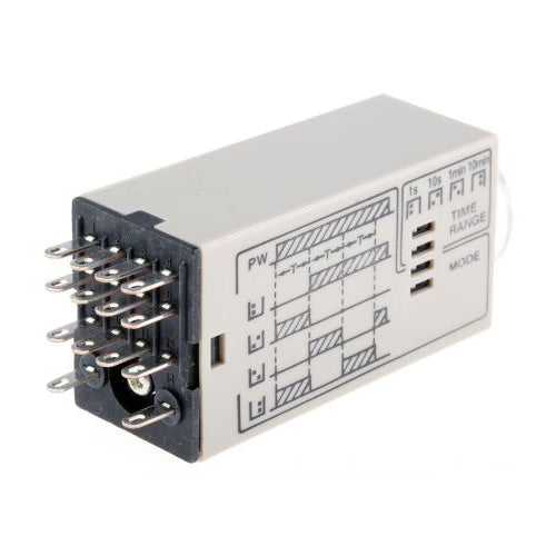 Omron Multi Function Timer Relay 8 Pin 0.1 s - 10 min 2 Contacts DPDT on