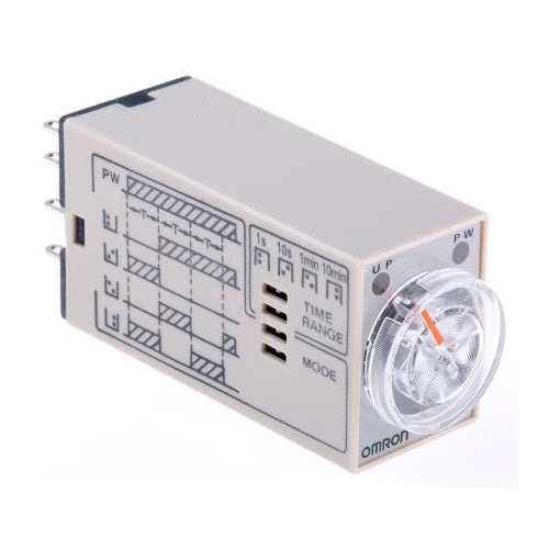 Omron Multi Function Timer Relay 8 Pin 0 1 min - 10 hours 4 Contacts 4PDT  24V AC
