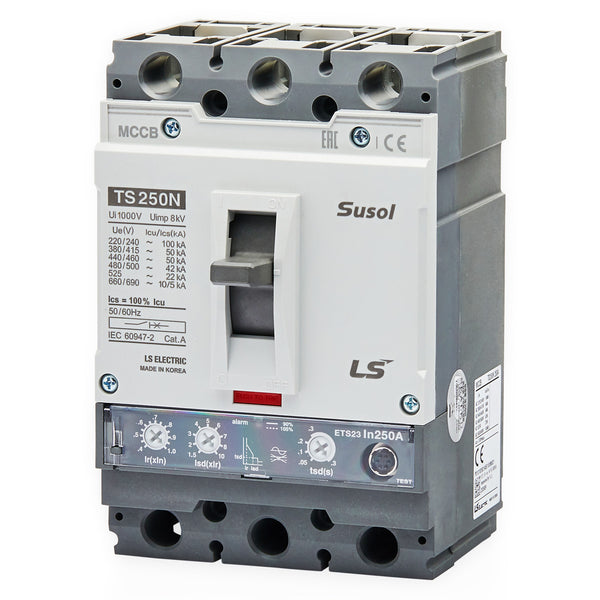 LS MCCB Moulded Case Circuit Breaker Susol 50kA 3 Pole 50 - 63 Amp