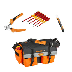 Weidmuller Tool Bag with KT8 Cutter, Screwdriver Set & Voltage Tester