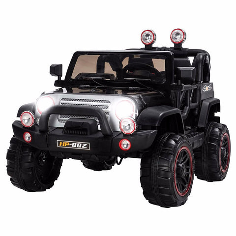 12V Recon Edition Battery Operated Children's Electric Ride On Jeep - Black - EpicStuff